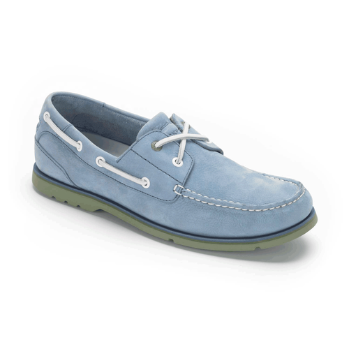 Summer Tour 2 Eye Boat Men's Boat Shoes in Navy